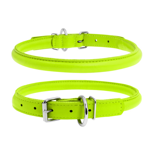 Glamour Green Round Dog Collar