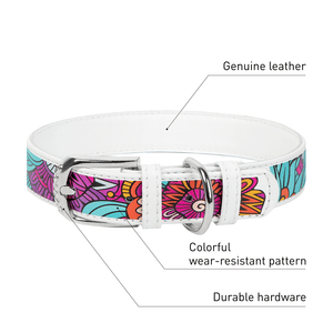 "Dog collar with the ""Summer"" pattern"