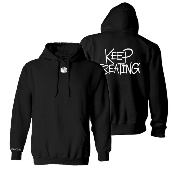 The 'Keep Creating' Hoodie - BLACK