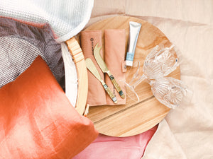 Complete Picnic Set -Large  Ochre and Pink