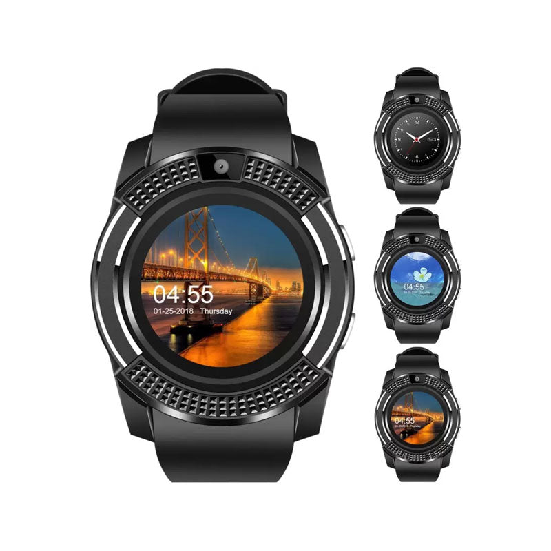 v8 bluetooth smartwatch with sim tf card support the. Black Bedroom Furniture Sets. Home Design Ideas