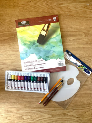 At Home Watercolour Painting Kit