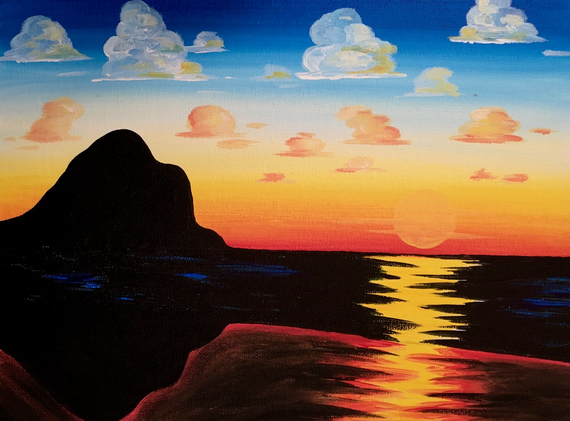 Piha Sunset - Paintvine Online