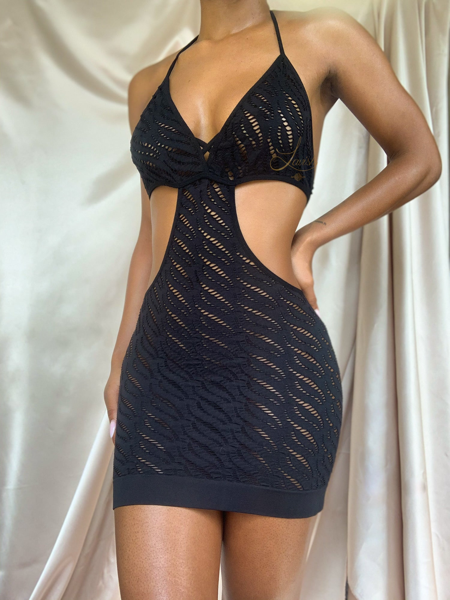 Double Helix Mini Dress | NOIR