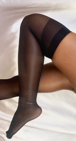 Flat Top Thigh High Stockings