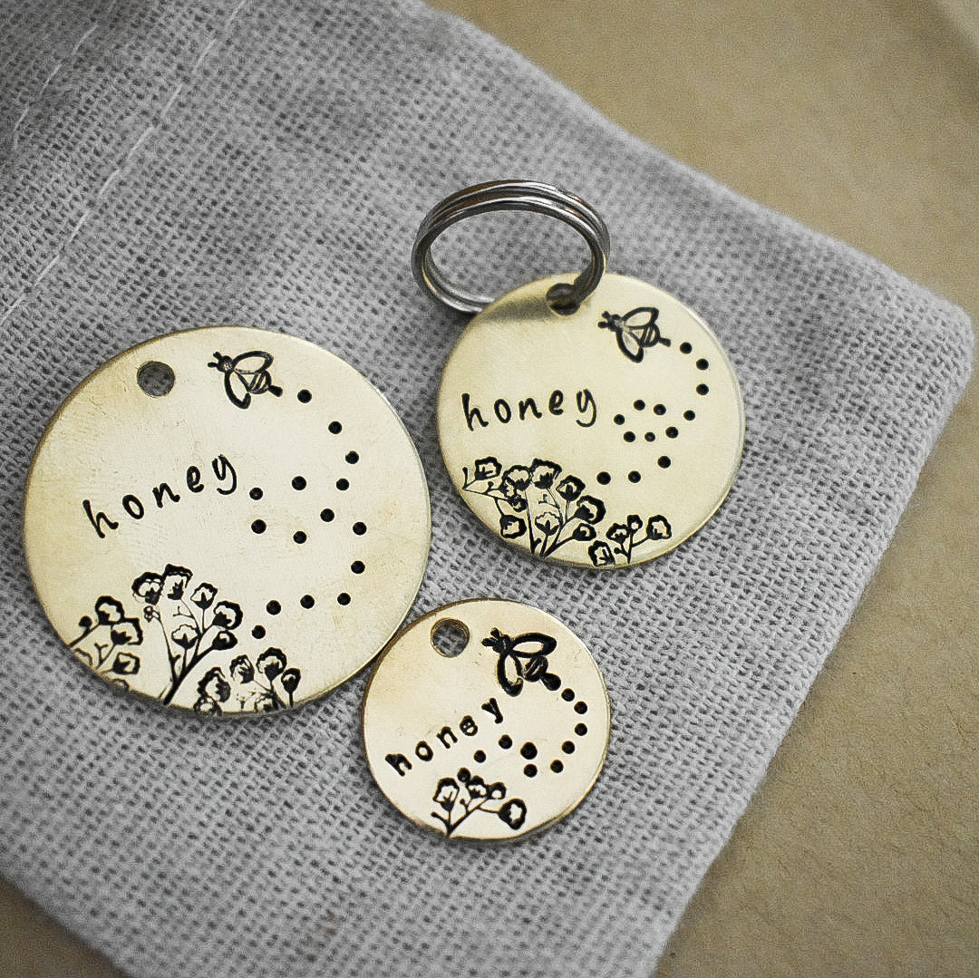 Honey Bee Pet ID Tag