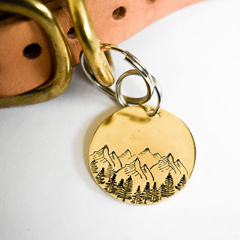 Mountains are Calling Pet ID Tag