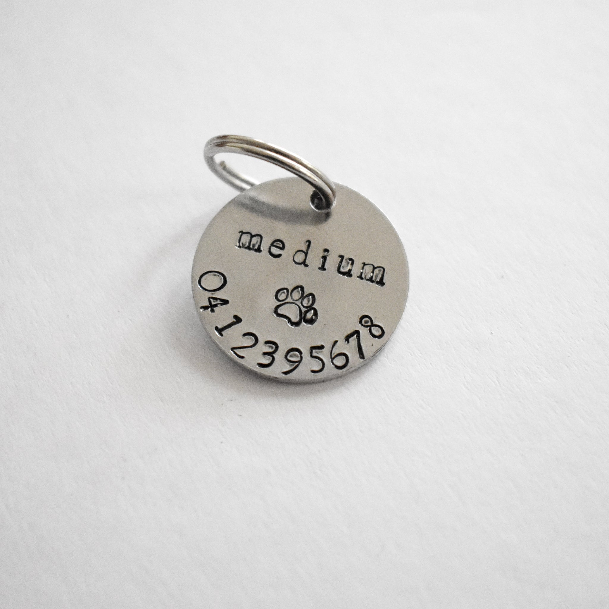 Silver Medium Custom Pet Tag