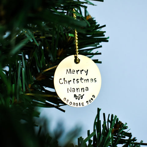 CUSTOM Christmas Ornament / Christmas Tree Decoration