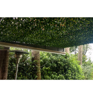 Expandable Faux Lemon Leaf Lattice Screen