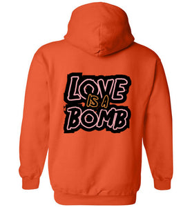 Love Is A Bomb (Front & Back Print) Hoodie - UniqXpression