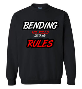 BENDING THE RULES Sweatshirt - UniqXpression