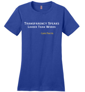Life Facts: Transparency - UniqXpression