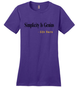 Life Facts: Simplicity Is Genius - UniqXpression