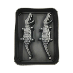 Crocodile Shape 3D Ice Cube Maker Bar Party Silicone Tray Jelly Mold