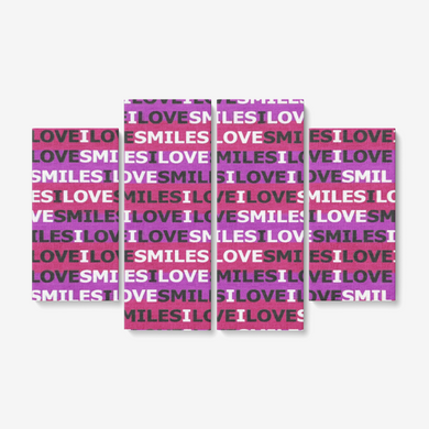 ILOVESMILES 4 Piece Canvas Wall Art