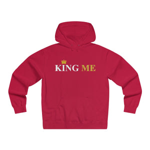 King Me (White Print) Lightweight Pullover Hooded Sweatshirt - UniqXpression