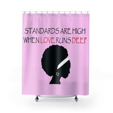 Love Runs Deep Shower Curtains