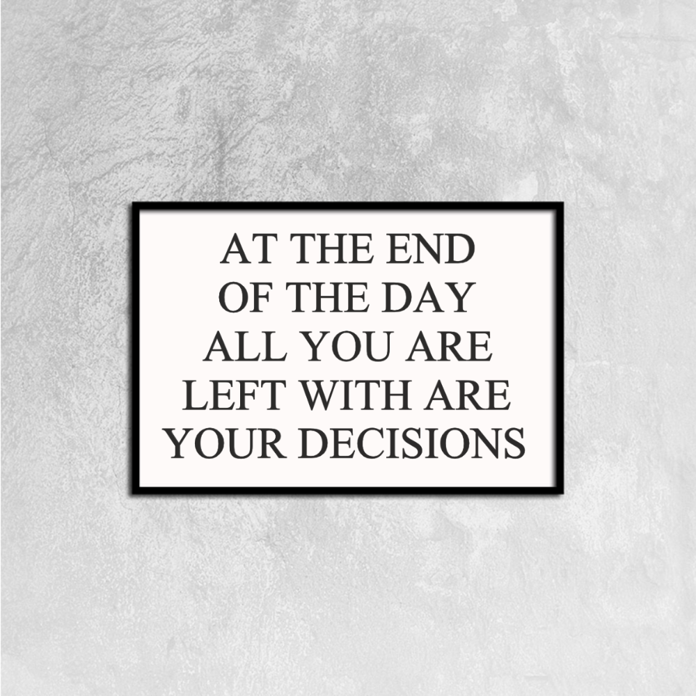 Decisions Canvas Prints