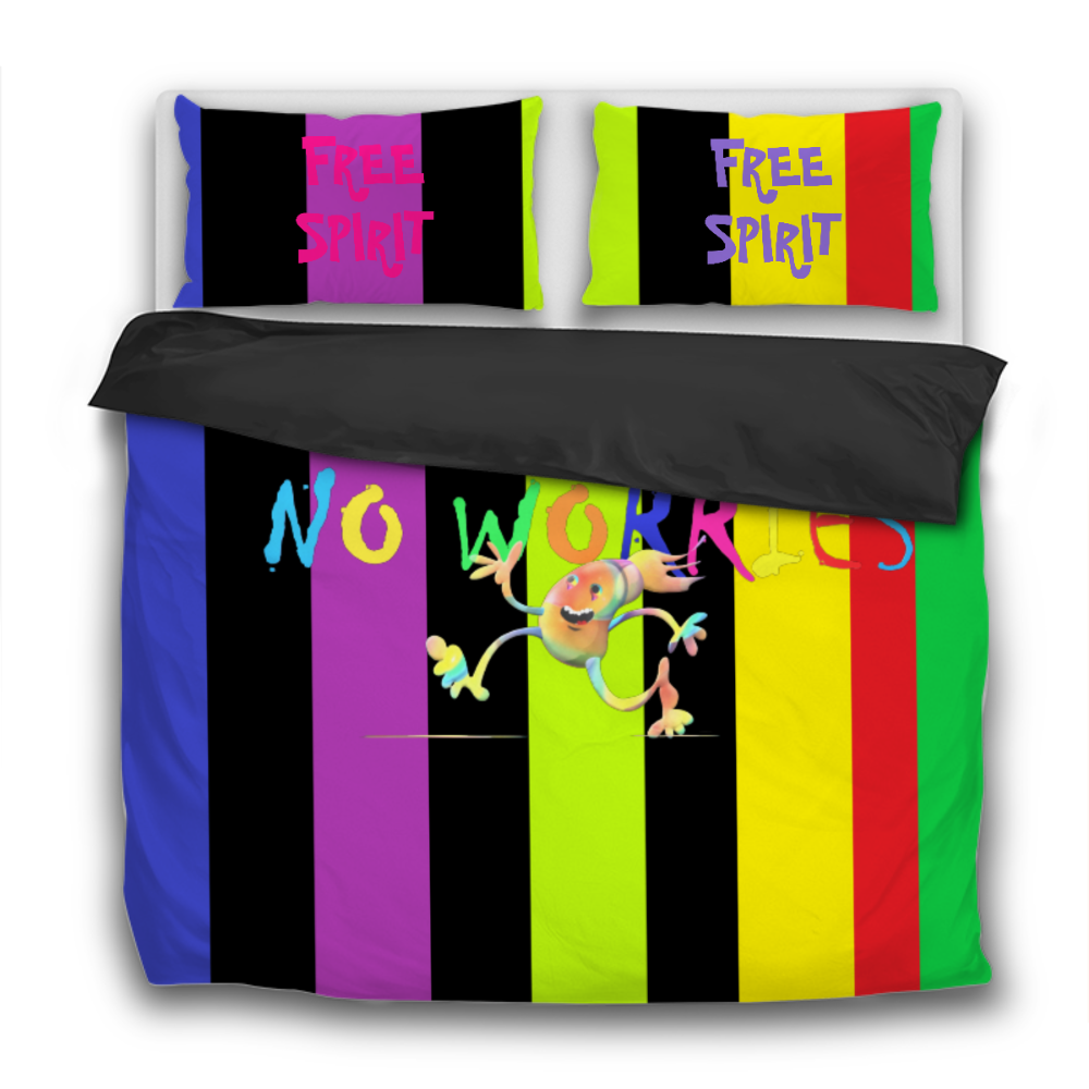 NO WORRIES 3 Pcs Bedding Sets