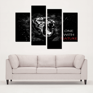 One With Nature 4 Panels Canvas Prints