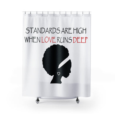 Love Run Deep Shower Curtains