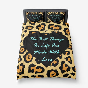 Best Things In Life Are Made With Love Microfiber Duvet Cover