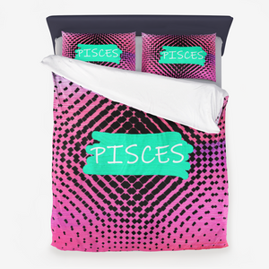 Astrology Collection: Pisces Microfiber Duvet Cover