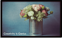Creativity Is Genius Canvas Print