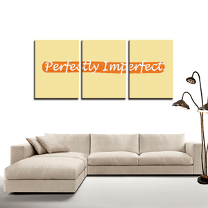 Perfectly Imperfect 3 Panels Canvas Prints