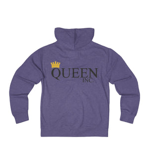 QUEEN INC Unisex French Terry Zip Hoodie - UniqXpression