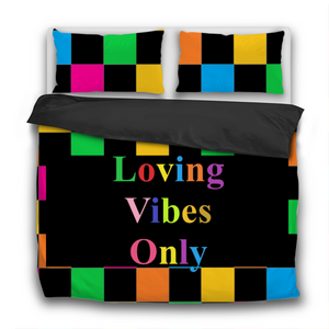 Loving Vibes Only 3 Pcs Bedding Sets