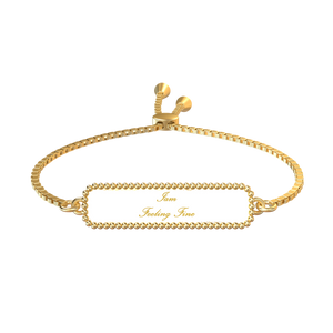 Iam Feeling Fine Affirmation Bracelet - UniqXpression