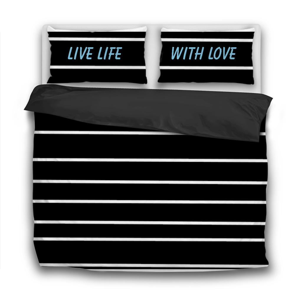 Live Life With Love 3 Pcs Bedding Sets