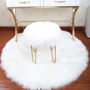 30*30CM Soft Sheepskin Rug & Chair Cover