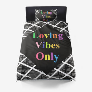 Loving Vibes Only Duvet Cover