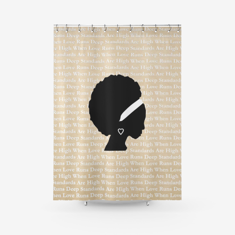 Love Runs Deep Shower Curtain