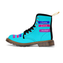 Choose Love Always Canvas Boots