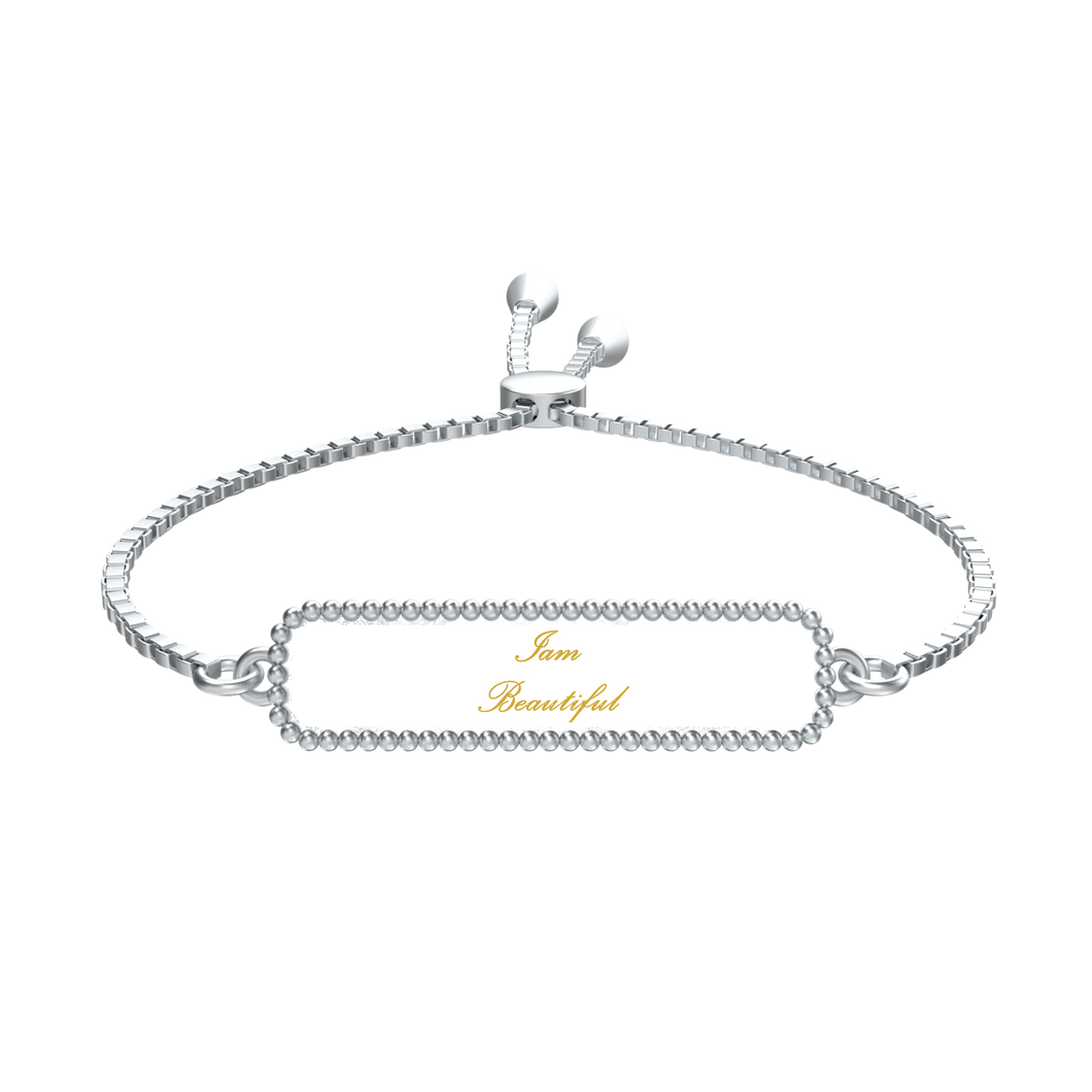 Iam beautiful Affirmation Bracelet - UniqXpression