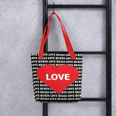 Love Hurts - Love Heals Tote bag