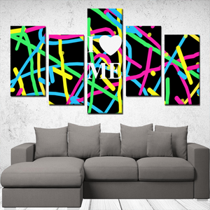 I Love Me 5 Panels Canvas Prints Wall Art for Wall Decorations