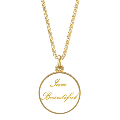 Iam Beautiful Affirmation Necklace - UniqXpression