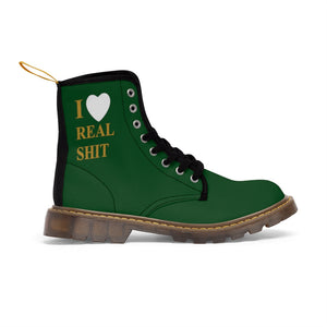 I Heart Real shit Canvas Boots