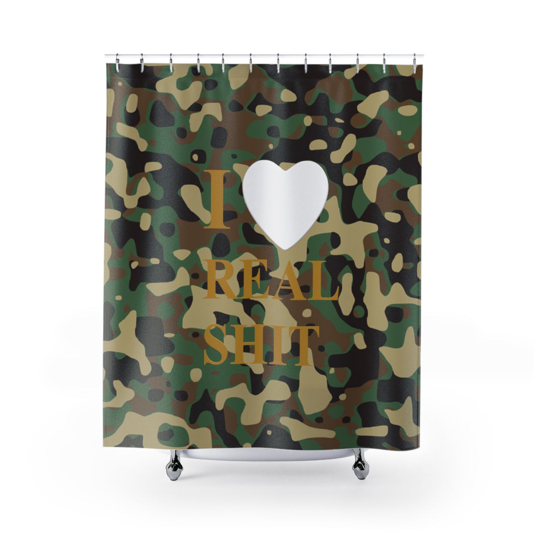 I Heart Real Shit Shower Curtains