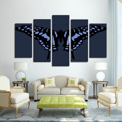 BUTTERFLY 5 Panels Canvas Prints