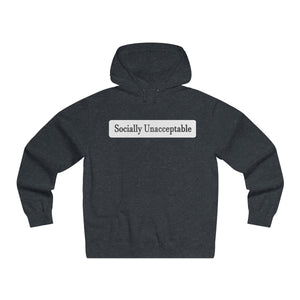 Socially Unacceptible Lightweight Pullover Hooded Sweatshirt