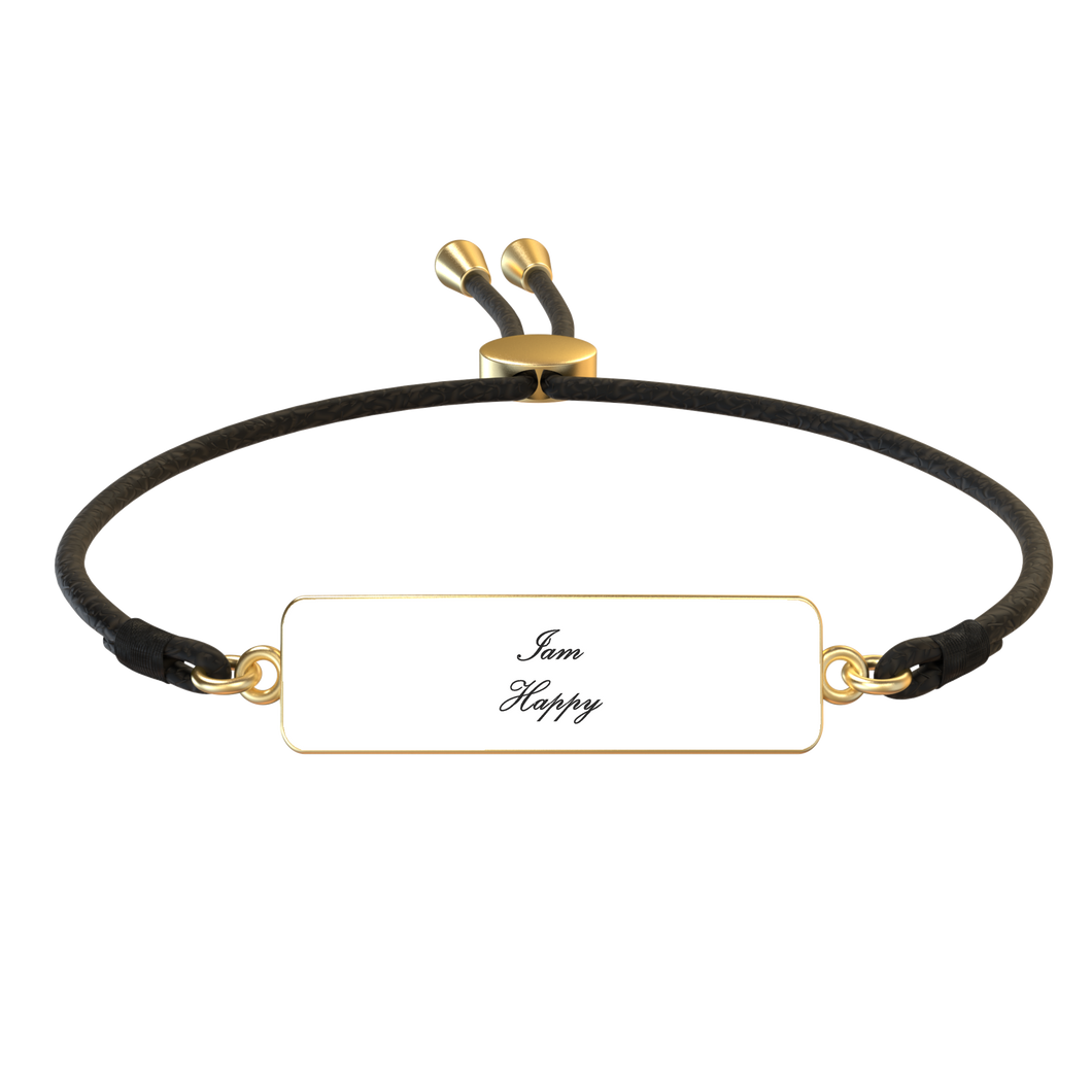 Iam Happy Affirmation Bracelet - UniqXpression
