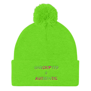 Unscripted & Authentic Pom Pom Knit Cap