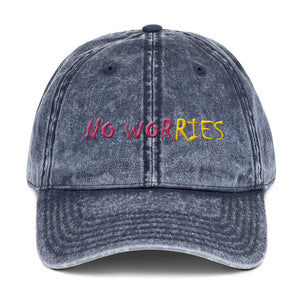 NO WORRIES Vintage Cotton Twill Cap