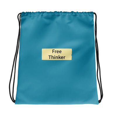 Free Thinker Drawstring bag